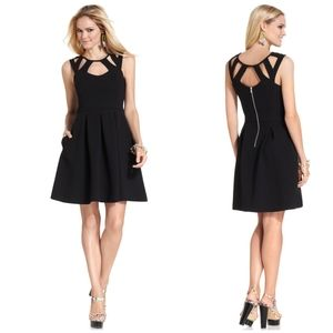 Betsey Johnson Black Cutout Fit And Flare Dress 2